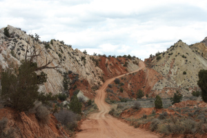 Forty Miles of Dirt Road through the Escalante Staircase in Utah.